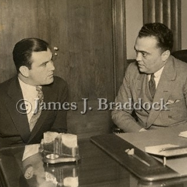 Jim Braddock with  FBI director J. Edgar Hoover