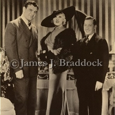 Braddock, Mae West and manager Joe Gould