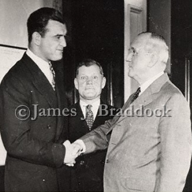 James J. Braddock with President Truman