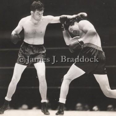 Heavyweight title fight, June 13th, 1935 - James Braddock & Max Baer. The Madison Square Bowl in Long Island City, NY.