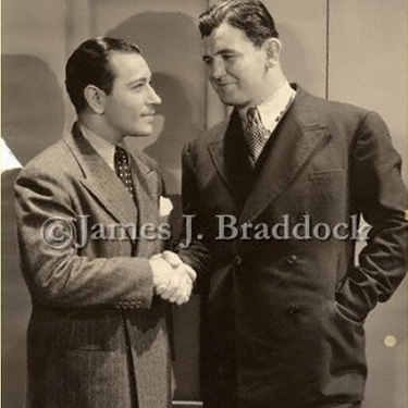 George Raft and Jim Braddock