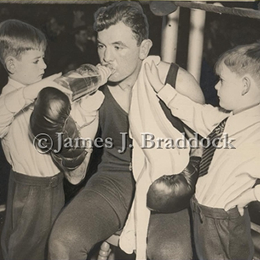 Jim gets help in his corner from sons James and Howard