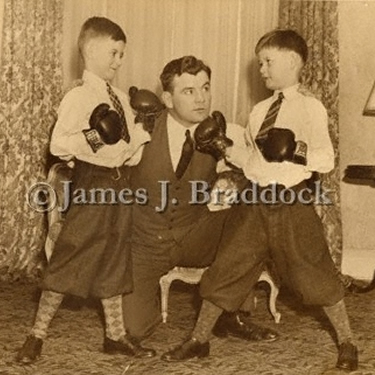 Jim Braddock with son's James & Howard