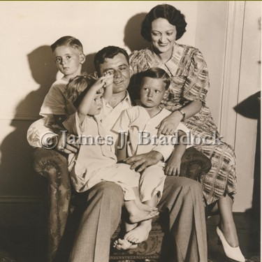 Jim with wife Mae and children James, Rose Marie and Howard