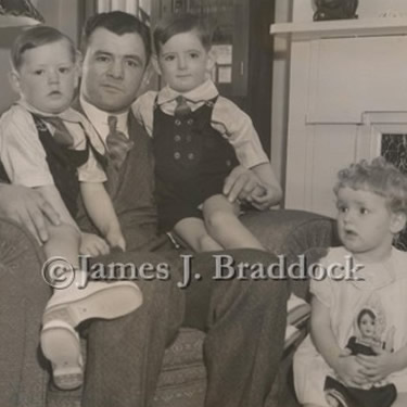 Braddock with his children Howard, James and Rose Marie
