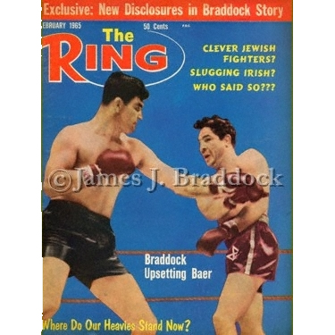 Braddock / Baer The Ring Magazine cover