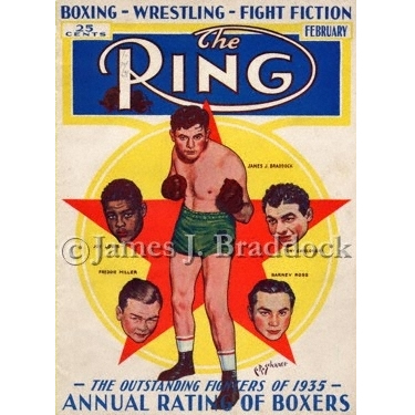Braddock on the cover of The Ring Magazine