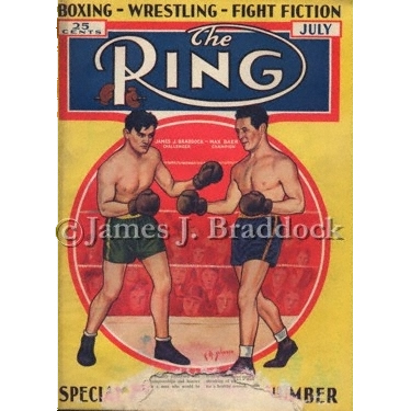 Braddock / Baer on the cover of The Ring Magazine
