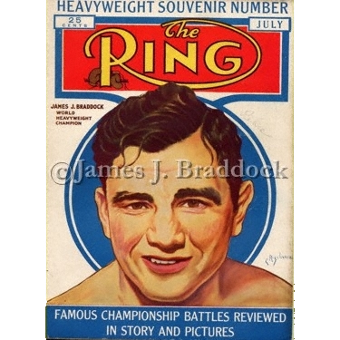 Braddock on The Ring Magazine cover