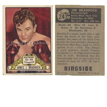 Ringside Boxing collector card