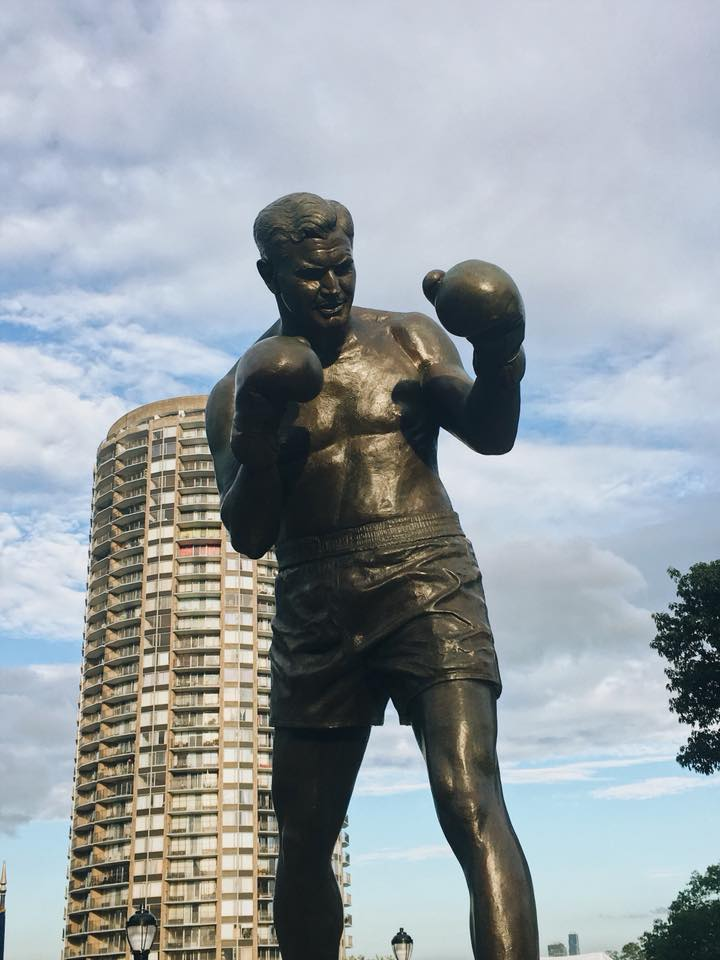 James J. Braddock Bronze Statue, North Hudson County Park, North Bergen NJ